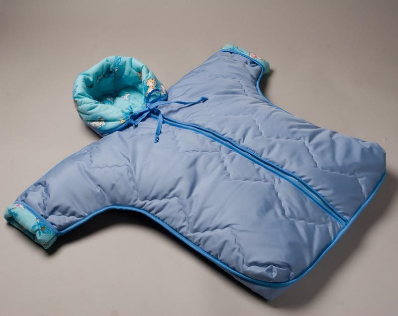 Конверт детский Ecoholl с рукавами. Конверт для новорожденного, 44/74 см М.93015